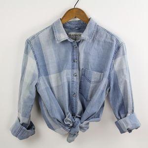 Garage Boyfriend Fit Button Down Shirt, Sz Medium